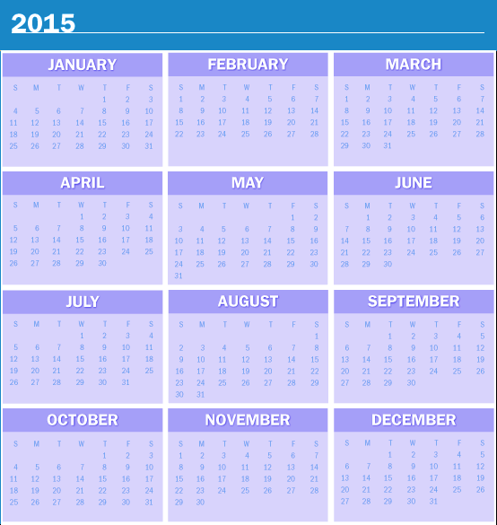 Best 2015 Calendar HD Wallpapers 3