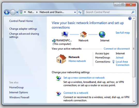 Wireless Connection in Windows 7