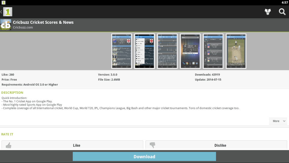 Cricbuzz for PC 4