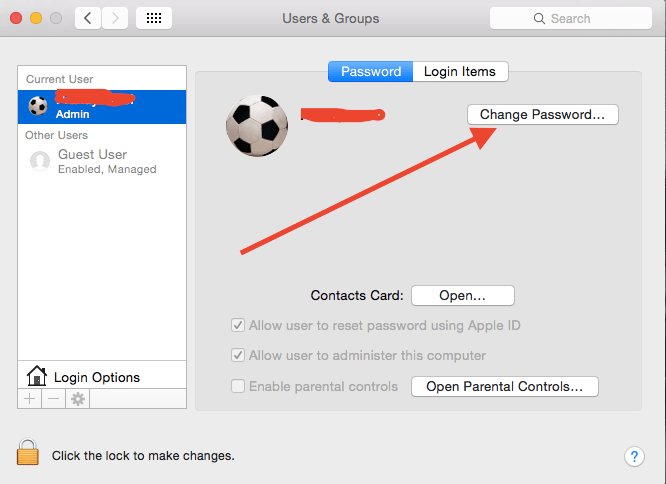 Change the Password of your MAC 3