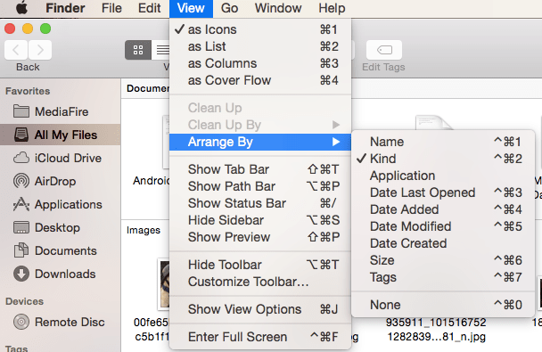 Arrange and Sort Desktop Items Automatically on Mac 3