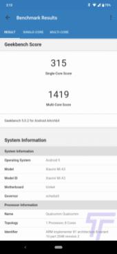 XIaomi Mi A3 Review Geekbench 5