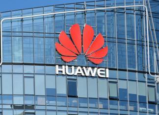 Huawei Logo Building
