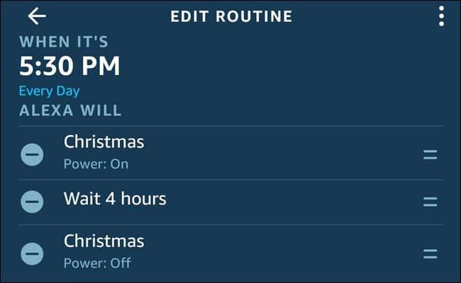 Schedule Smart Home Christmas Lights