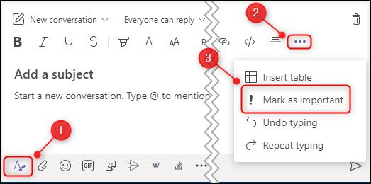 Mark Message Microsoft Teams Important
