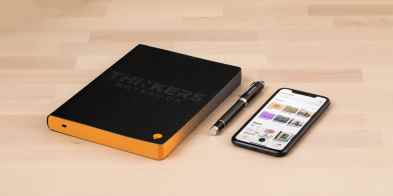 Notebook Phone Pen Thinkers Notebook