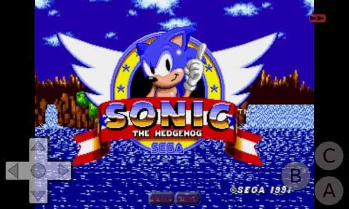 Sonic The Hedgehog On Genplusdroid Emulator