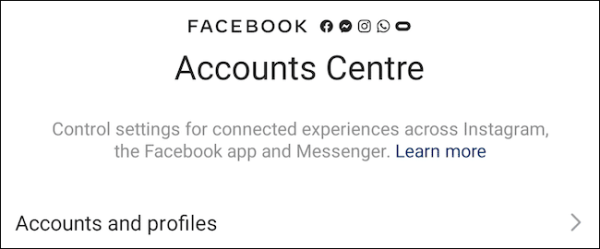 Instagram App Accounts Centre (1)