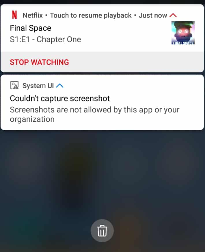 netflix screenshot android