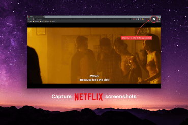 How to take a screenshot on Netflix using Google Chrome