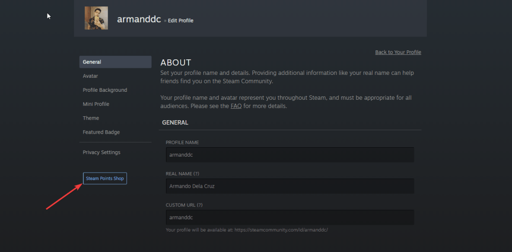 How to change your Steam profile background