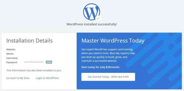 wordpress installed How to Install WordPress, Theme, and Plugin on Bluehost