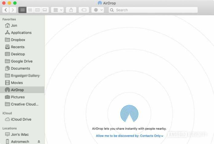 How to turn on AirDrop on a Mac