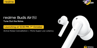 Realme Buds Air Pro TWS Earbuds to Launch in India on October 7
