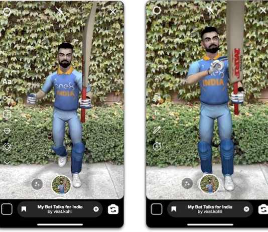 Virat Kohli is now available as an AR effect on Instagram and Facebook
