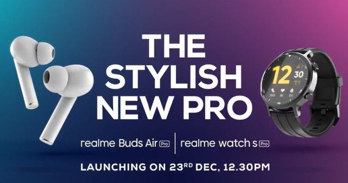 Realme Watch S Pro, Watch S, Buds Air Pro Master Edition to Launch in India