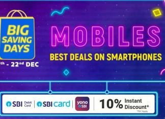 Flipkart Big Saving Days sale is all set to begin on Friday December 18