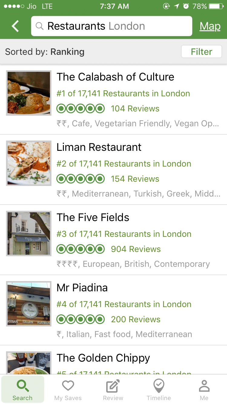 Restaurant Reviews Near Me