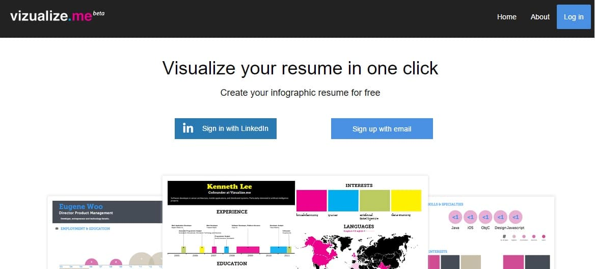 infograpgic builder to visualize your in one click