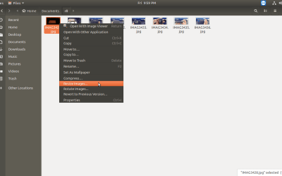 how to resize or rotate multiple images easily in linux