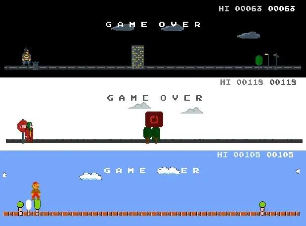 Google Chrome Dino Game Variants