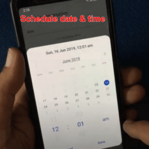 how to schedule a text message on galaxy s9