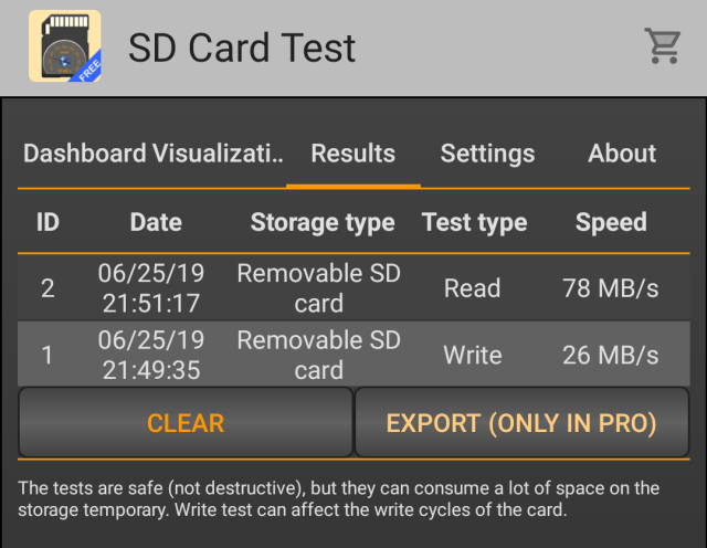 Alfawise SD Card Benchmark 02