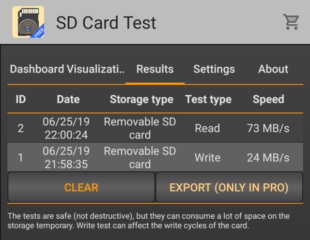 Microdata SD Card Benchmark 01