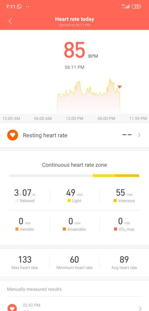 Xiaomi Mi Band 4 Software 0016