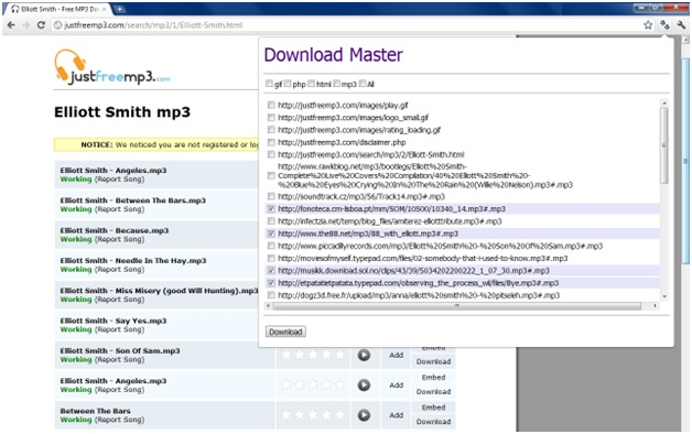 How to Download Files from a Webpage in One Go (chrome