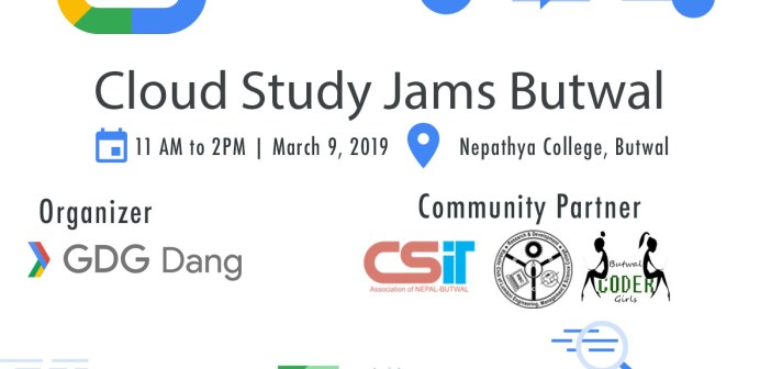 GDG Dang to host Cloud Study Jams in Nepathya College Butwal on March 9