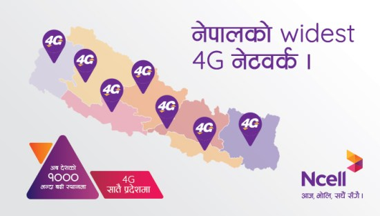 Ncell 4G Coverage in Nepal