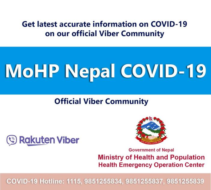 MOHP Nepal COVID -19 Viber Community
