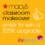 Macy's Classroom Makeover Sweepstakes (ends 9/15)