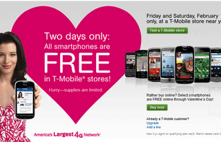 T-Mobile Feels Valentine Love with Offer for Free Smartphones 2/11-12