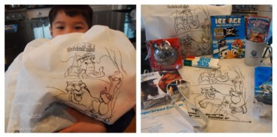 Everyone went home with Ice Age goodie bags!