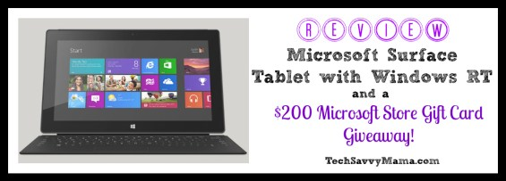 Microsoft Surface Tablet Review and Giveaway TechSavvyMama