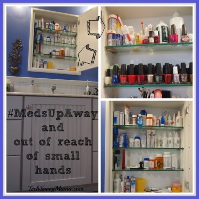 Master Bath Medicine Cabinet #MedsUpAway 2