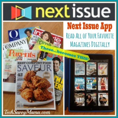 Favorite magazines available digitally through Next Issue