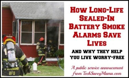 Sealed in Battery Smoke Alarm Saves Lives