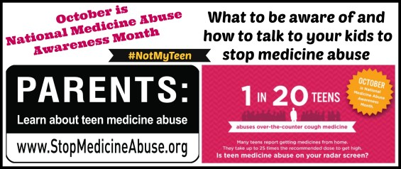 Stop Medicine Abuse #NotMyTeen