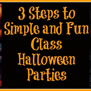3 Steps to Simple and Fun Class Halloween Parties {sponsored}