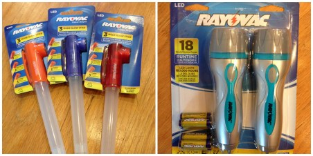 Rayovac Glow Sticks and Flashlights