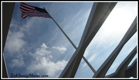 Flag at USS Arizona Memorial, Pearl Harbor