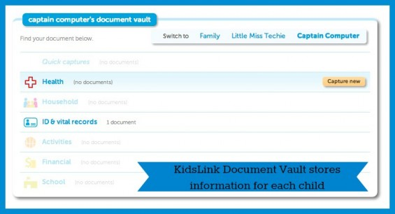 KidsLink Document Vault