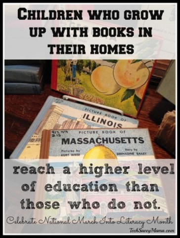 Children who grow up with books in their homes
