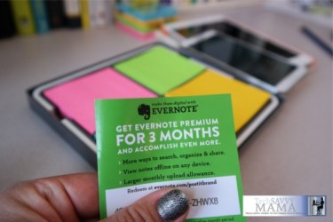 Post-it Products Evernote Collection comes with a code for free Evernote Premium