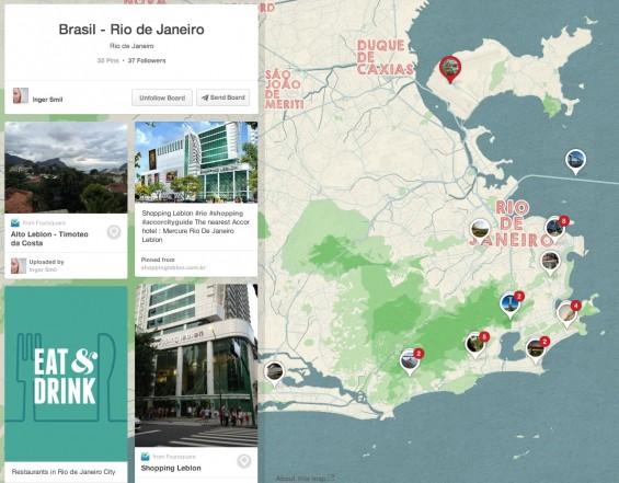 Brasil- Rio de Janiero Pinterest Place Board