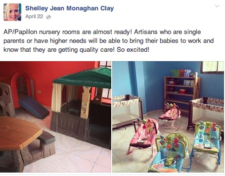 Shelley Clay Facebook Post- ApParent Project Nursery