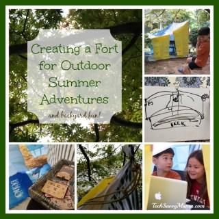 Creating a Fort for Outdoor Summer Adventures and Backyard Fun #EarthtoEcho